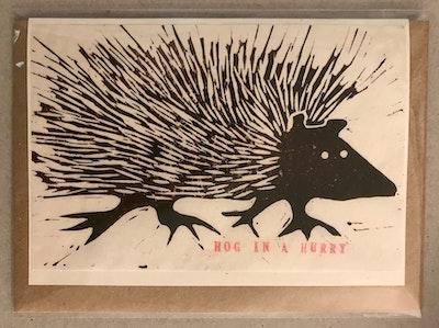 Hog in a Hurry Card