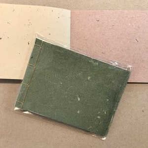 Small stab-bound notebook