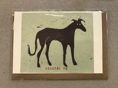 Scamper On Card