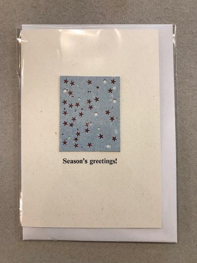 Letterpress Stars Card